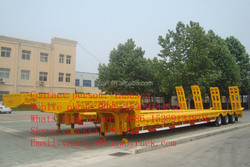 factory sale cheap tri-axle flatbed trailer trailer trailer truck