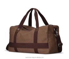 unisex canvas duffel bag big size travel bag wholesale canvas shoulder bag from china