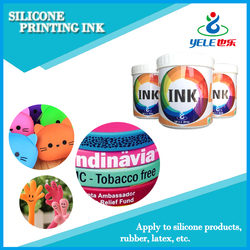 High-adhesive eco solvent silicone ink for swim caps