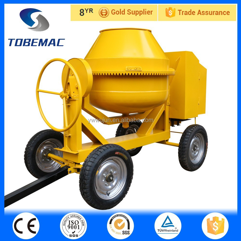 Tobemac diesel engine powered concrete mixer trailer for for Cement mixer motor for sale