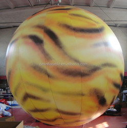 LED advertising inflatable planet balloon for decoration