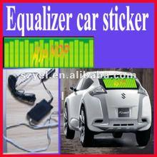 Hit beat popular light up el sound actived car stickers 2012