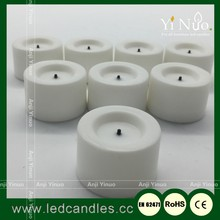 8 Battery Operated Flameless Heatless No Heat Candle Flickering Wickless LED Tealight Candles