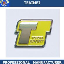 ABS plastic chrome sticker car badge emblem with TOYOTA SPORT