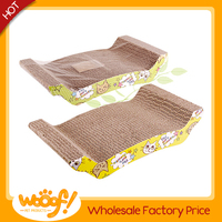 Hot selling pet cat products high quality cardboard cat bed