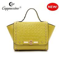 designer brand fashion women embossed pattern leather crocodile handbag 2014