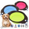 Silicone and TPR Traveling Folding dog Bowl