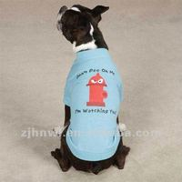 blue plain dog t-shirt/pet t-shirt/dog apparel