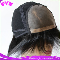high quality hand tied full lace wig human hair mens wig stock middle size