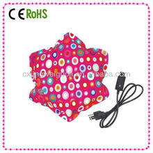 flower shape medical electric hand warmer hot pack rechargeable, healthcare explosion-proof electric thermo hot water bottle bag