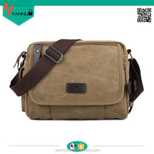 hot selling contracted durable long strap small skull multi pockets canvas shoulder bags for college nice design vintage
