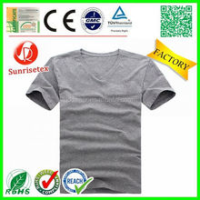 hot sale popular cheap bulk v-neck t shirt factory