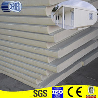 pu sandwich panel price with color coated steel sheet on both side