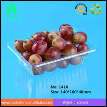 High quality factory supply PET tray for food and fruit 14*10*4cm