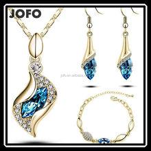 2015 Fashion Dubai Costume Crystal Jewelry Set For Wedding JDJ0015
