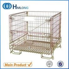 Warehouse steel folding storage wire mesh cages