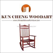 Rocker adultos muebles de la sala de madera clásico mecedora muebles de roble OEM