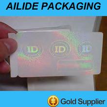 custom security transparent hologram id anti fake