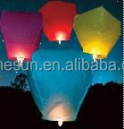 Various size and colors eco 100% biodegradable paper sky flying lanterns wholesale