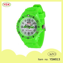 New flexible waterproof customized printed and color quartz watch