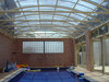high light transmission&fireproof plastic buidling material PC panel for swimming pool construction