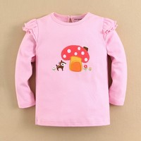 2015 CARTON baby clothes long sleeve baby carton tshirt for baby girl