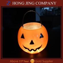 Led pumpkin candy basket for halloween