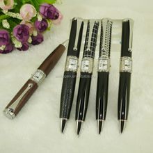 Pen with Watch Luxurious Unique Ballpoint Pen PU Leather Embossed finish Japan Quartz Movement for Watches Accessories Gifts