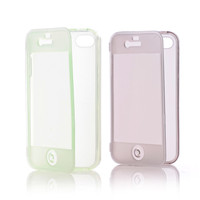 Fashion Soft TPU Silicone Transparent Clear Flip Case Cover For iPhone5