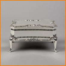[] Silver chain of high-end wedding decorations dresser beautiful gift to give as gifts Rose Continental rectangular jewelry box