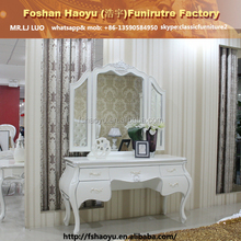 2015 new design luxury wooden jewelry cabinet, make up table and mirror