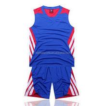 Top grade latest big size basketball uniform