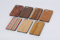 OEM Welcome New Arrival Wood Piece PC Bamboo Wood Case for iPhone 6 With Factory Price