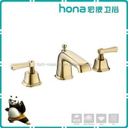 Double handle waterfall bathtub faucet