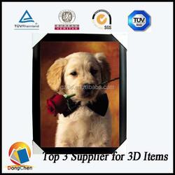 Cute dog 3D PET lenticular decoration picture
