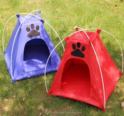 Dog cat tent folding pet shelter 40x40x45 cm soft pet tent