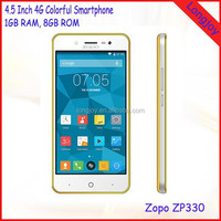 2015 Best 4.5 Inch Smart Phone Zopo ZP330 Quad Core 8GB ROM 4G LTE Android 5.1 Smartphone