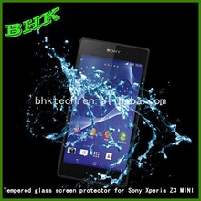 waterproof anti-fingerprint tempered glass screen protector for Sony Xperia Z3 MINI,screen protector 9H tempered