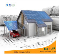 With Lead-Acid Battery Portable complete set 12v 200w 250w Solar energy power panel kit for home
