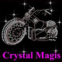 cool crystal motorcycle rhinestone transfer motif for t shirt