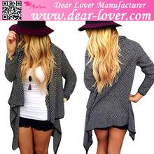 Custom design 2015 evening wear girls black cardigan sweater