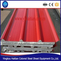 High quality corrugated roof insulation steel sandwich panel