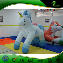 Natural material cute inflatable horse animal toy