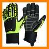 Hi-vis PVC Anti-slip Knuckle Protection Gloves For Mining Work