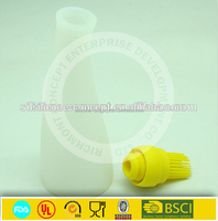 butane hash oil silicone container with brush and lid