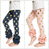 New arrival organic cotton baby pants ,icing ruffle pants girls, baby leggings