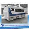 3 horse trailer with living quarter car transport trailer