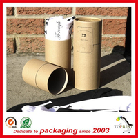 Clothing Tube Package Paper Round Box Kraft Material Printing