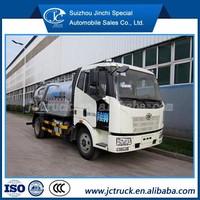 Vacuum truck/vacuum pump suction sewage FAW Fecal suction truck
