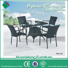 Black 4 seater aluminium frame 2012 New Design Europe Rattan Furniture